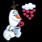 Олаф из «Холодного Сердца»: cтикер №7