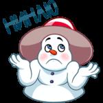 Снеговичок: cтикер №5