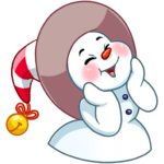 Снеговичок: cтикер №7