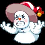 Снеговичок: cтикер №11