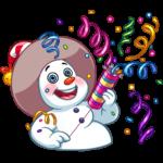 Снеговичок: cтикер №14