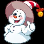 Снеговичок: cтикер №20