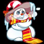 Снеговичок: cтикер №24