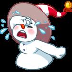 Снеговичок: cтикер №29