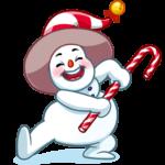 Снеговичок: cтикер №35