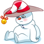 Снеговичок: cтикер №36