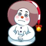 Снеговичок: cтикер №39