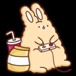 Кролик Супчик: cтикер №11