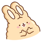 Кролик Супчик: cтикер №18