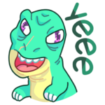 Тираннозавр Дино: cтикер №7