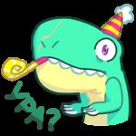 Тираннозавр Дино: cтикер №8