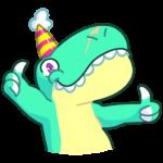 Тираннозавр Дино: cтикер №17