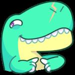 Тираннозавр Дино: cтикер №28