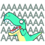 Тираннозавр Дино: cтикер №39