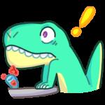 Тираннозавр Дино: cтикер №44