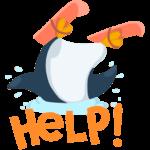 Пингвин Джордж: cтикер №38