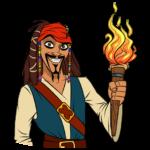 Капитан Джек Воробей: cтикер №19