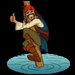 Капитан Джек Воробей: cтикер №20