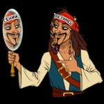 Капитан Джек Воробей: cтикер №28