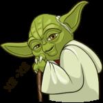 Праздничный мастер Йода: cтикер №2