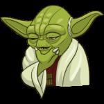 Праздничный мастер Йода: cтикер №5