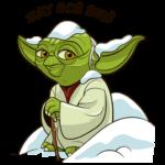 Праздничный мастер Йода: cтикер №10