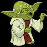 Праздничный мастер Йода: cтикер №11