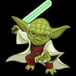 Праздничный мастер Йода: cтикер №12