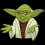 Праздничный мастер Йода: cтикер №13