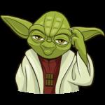 Праздничный мастер Йода: cтикер №17