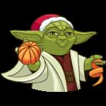 Праздничный мастер Йода: cтикер №21