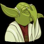 Праздничный мастер Йода: cтикер №24