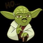 Праздничный мастер Йода: cтикер №25