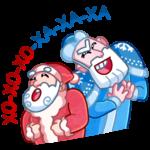 Мороз и Санта: cтикер №1