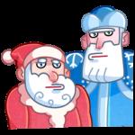 Мороз и Санта: cтикер №19