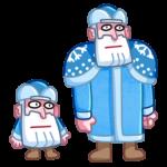 Мороз и Санта: cтикер №21
