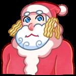 Мороз и Санта: cтикер №25