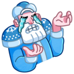 Мороз и Санта: cтикер №31