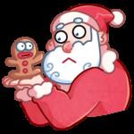 Мороз и Санта: cтикер №44