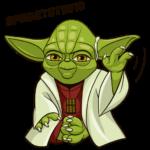 Праздничный мастер Йода: cтикер №30