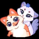 Миу-Мяу и Кусалочка: cтикер №1