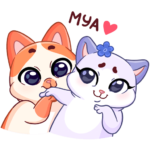 Миу-Мяу и Кусалочка: cтикер №2
