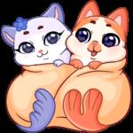 Миу-Мяу и Кусалочка: cтикер №4