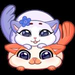 Миу-Мяу и Кусалочка: cтикер №6