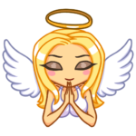 Ангел Мари: cтикер №15