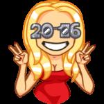 Новый год с Мари: cтикер №10
