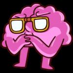 Сердце и Мозг: cтикер №13
