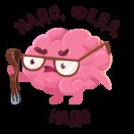 Мозг: cтикер №25
