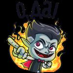 Граф Дракула: cтикер №6