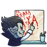 Граф Дракула: cтикер №8